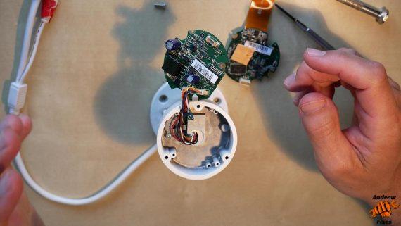 dismantling hikvision camera offline