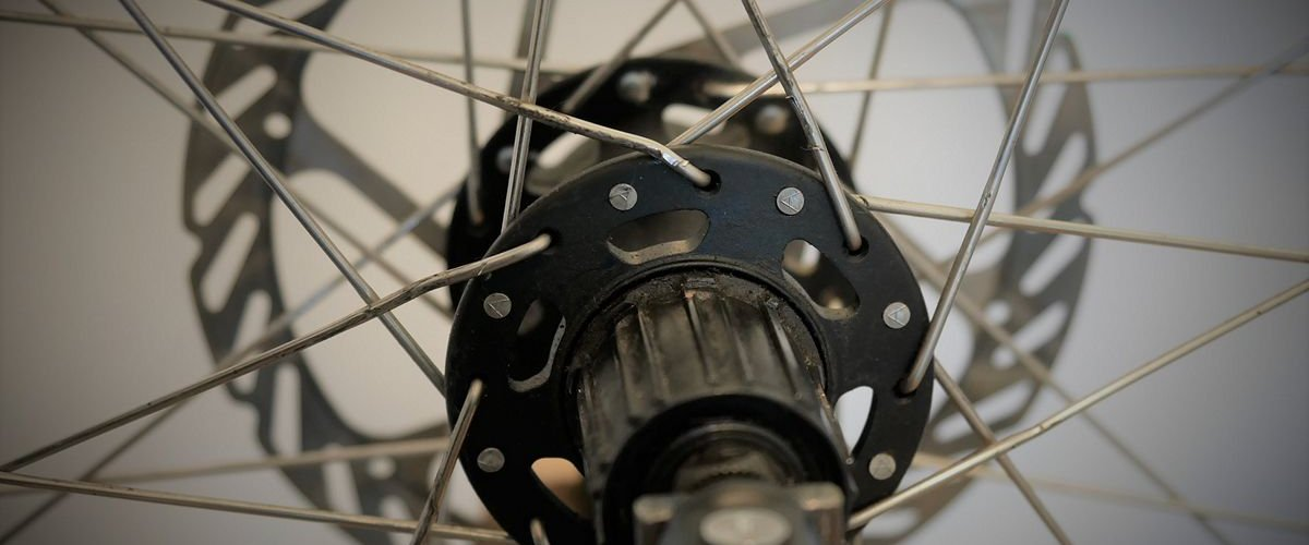 Picture of damaged bicycle spokes following chain overshift